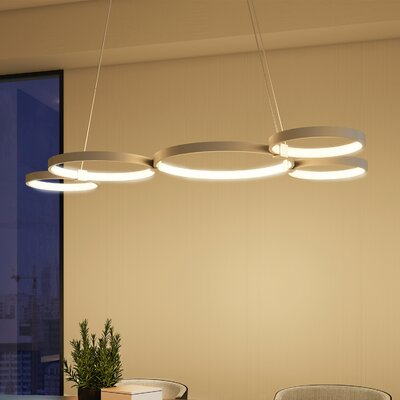 Capella 5-Light Geometric Pendant Finish: Aluminium