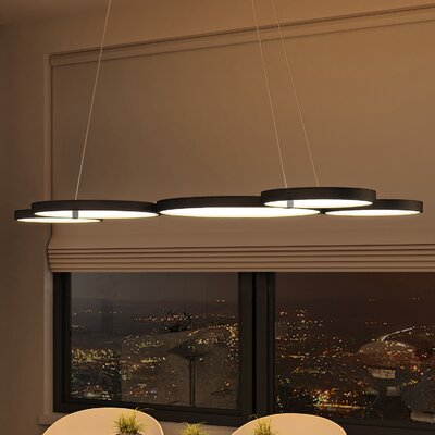 Doveton 5-Light Geometric Pendant Finish: Black