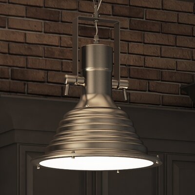 Dorado 1-Light Mini Bowl Pendant Finish: Satin Nickel