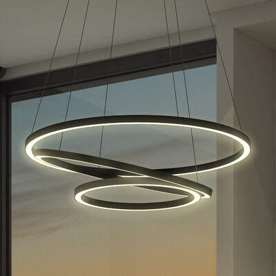 Tania Trio Pendant Finish: Black