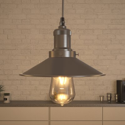 Delphinus 1-Light Mini Pendant Finish: Satin Nickel