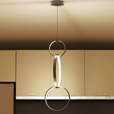Doveton 3-Light Pendant Finish: Aluminum