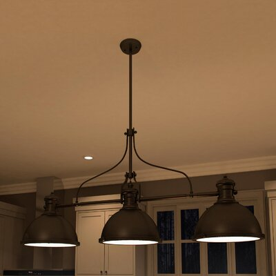 Dudek 3-Light Kitchen Island Pendant Finish: Architectural Bronze