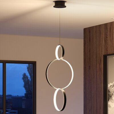 Doveton 3-Light Pendant Finish: Black