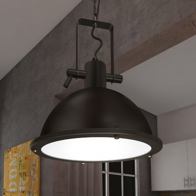 Dudek 1-Light LED Bowl Pendant Finish: Architectural Bronze