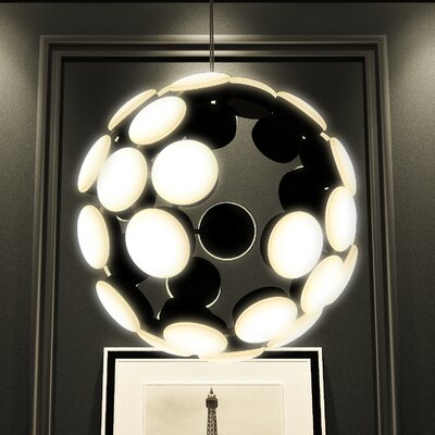 Kastra Globe Pendant Finish: Black