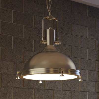 Dorado 1-Light Bowl Pendant Finish: Satin Nickel