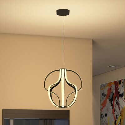 Doveton 8-Light Geometric Pendant Finish: Black