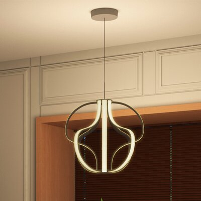 Capella 8-Light Geometric Pendant Finish: Aluminium