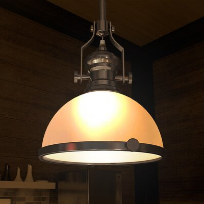 Dudek 1-Light Bowl Pendant