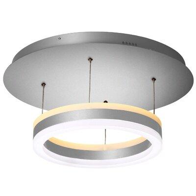 Evelyn LED 1-Light Semi Flush Mount
