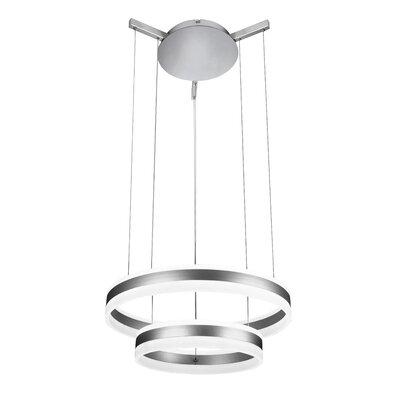 Evelyn LED 2-Light Drum Chandelier