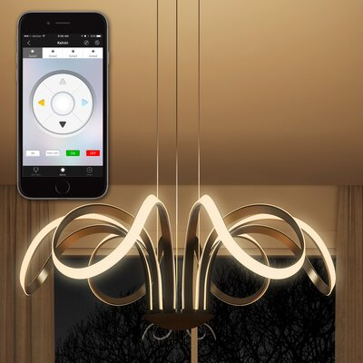 Capella Flower WiFi-Enabled Tunable 6-Light LED Pendant