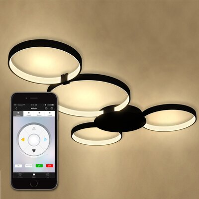 Capella WiFi-Enabled Tunable 4-Light LED Flush Mount