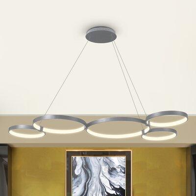 Doveton 5-Light Geometric Pendant Finish: Aluminium