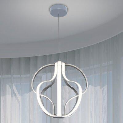Doveton 8-Light Geometric Pendant Finish: Aluminium