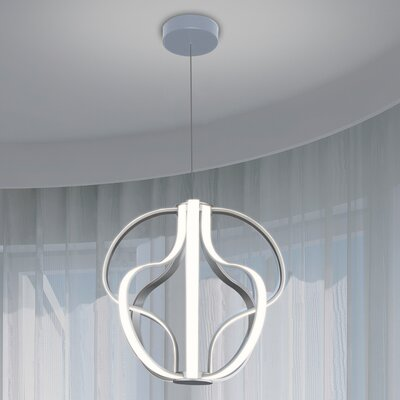 Capella 8-Light Geometric Pendant Finish: Aluminium