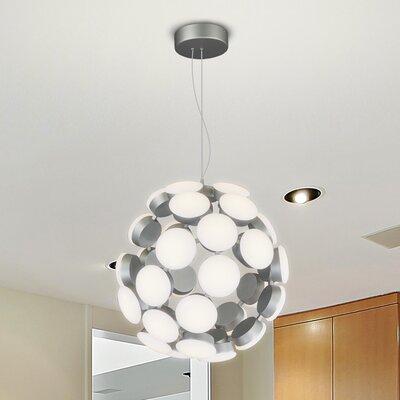 Rodrigues Globe Pendant Finish: Aluminium