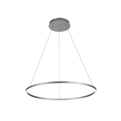 Cherryford 1-Light Geometric Pendant Finish: Silver, Size: 120.6 H x 39.4 W x 39.4 D
