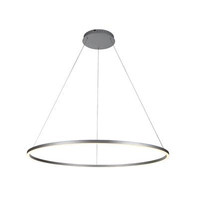 Cherryford 1-Light Geometric Pendant Finish: Silver, Size: 119.8 H x 51.2 W x 51.2 D