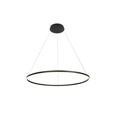 Cherryford 1-Light Geometric Pendant Finish: Black, Size: 120.6 H x 39.4 W x 39.4 D