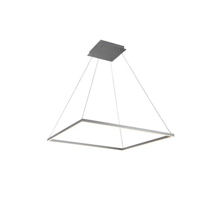 Cherrybrook 1-Light Geometric Pendant Finish: Silver, Size: 120.1 x H 39.4 W x 39.4 D