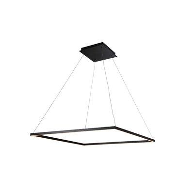 Cherrybrook 1-Light Geometric Pendant Finish: Black, Size: 120.1 x H 39.4 W x 39.4 D