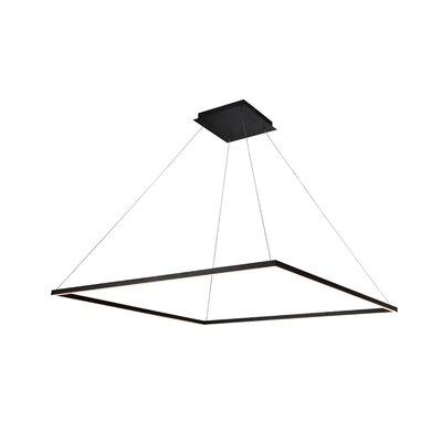Cherrybrook 1-Light Geometric Pendant Finish: Black, Size: 119.1 H x 51.2 W x 51.2 D