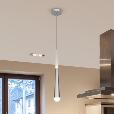 Northington Contemporary 1-Light LED Mini Pendant Finish: Silver