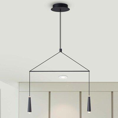 Quaoar 2-Light LED Kitchen Island Pendant
