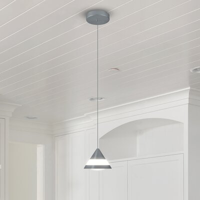 Northington 1-Light LED Mini Pendant Finish: Silver