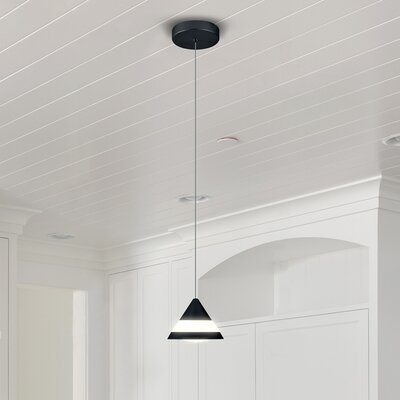 Northington 1-Light LED Mini Pendant Finish: Black