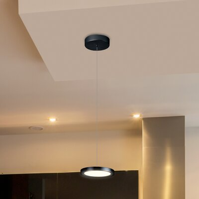 Northville 1-Light LED Mini Pendant Finish: Black