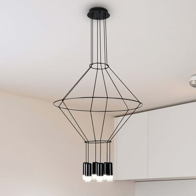 Quaoar 6-Light LED Geometric Pendant