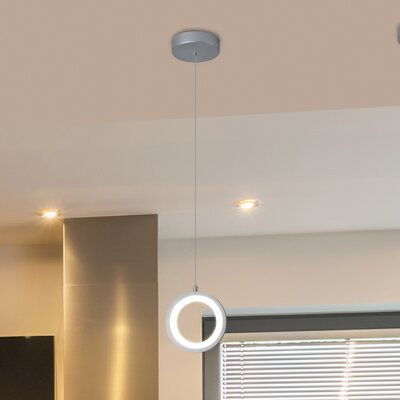 Colindale 1-Light LED Mini Pendant Finish: Silver
