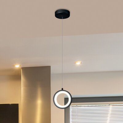 Colindale 1-Light LED Mini Pendant Finish: Black