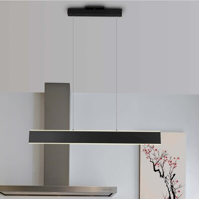 Northtrop 1-Light LED Kitchen Island Pendant Finish: Black