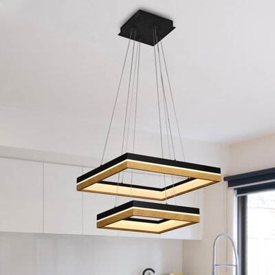 Pyxis Contemporary 2-Light LED Geometric Pendant
