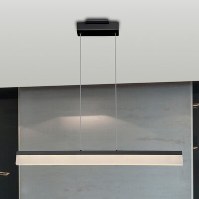 Northington 1-Light LED Kitchen Island Pendant Finish: Black