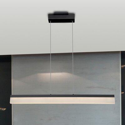Northington 1-Light LED Kitchen Island Pendant Finish: Black
