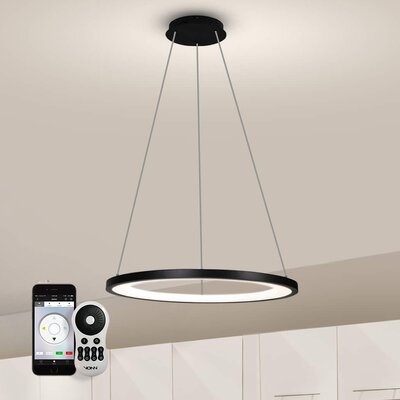 Colindale Modern WiFi-Enabled Tunable 1-Light Geometric Pendant