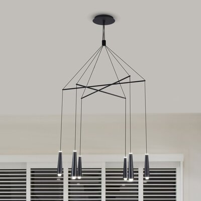 Quaoar 6-Light LED Cluster Pendant