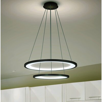 Colindale Modern WiFi-Enabled Tunable 2-Light Geometric Pendant