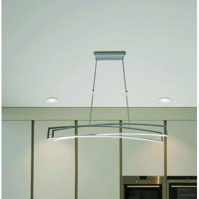 Northgate 2-Light LED Geometric Pendant Finish: Silver