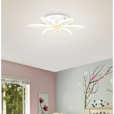 Northview 6-Light LED Semi Flush Mount Shade Color: White
