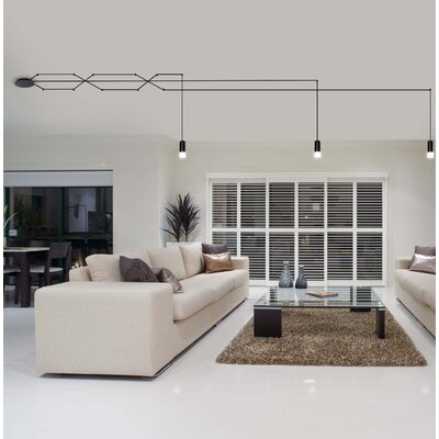 Quaoar 3-Light LED Geometric Pendant