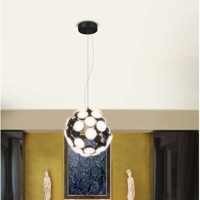 Rodrigues Globe Pendant Finish: Black