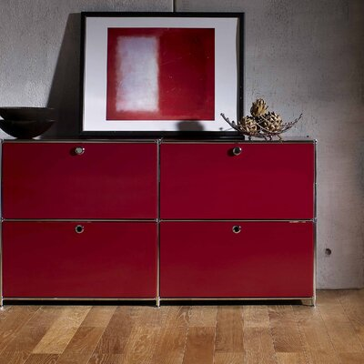 SYSTEM4 Elite 4-Drawer Lateral File Color: Wine Red Product Image 40