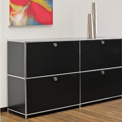 SYSTEM4 Elite 4-Drawer Lateral File Color: Black Product Picture 30