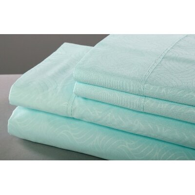 6 Piece Sheet Set Size: King, Color: Coral
